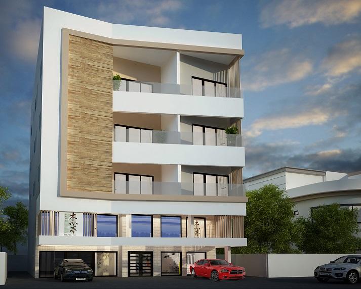 3 storey villa at damistan - 3 storey building exterior design ...
